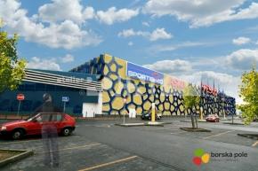 Návrh fasády obchodního centra